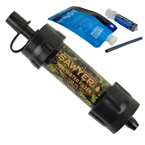 System Camo (Sawyer Products SP107 Mini Water Filtration System, Single, Camo)