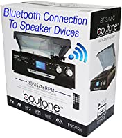 Boytone BT-37M-C Bluetooth 3-Speed Stereo Turntable Wireless Connect to...