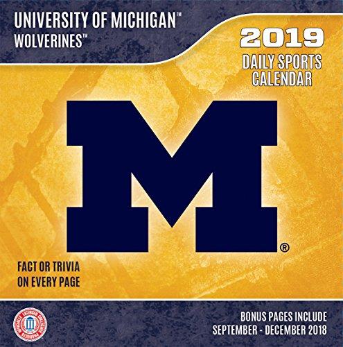 Turner 19998051379 Sport Michigan Wolverines 2019 Box Calendar Desk Calendar