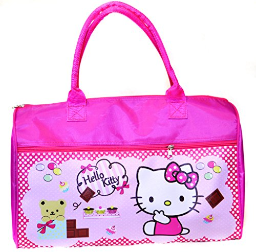 JAJA Hello Kitty luggage bag, Cute Kitty with Tippy and Cupcake pattern, Pink. (Duckie Bank)