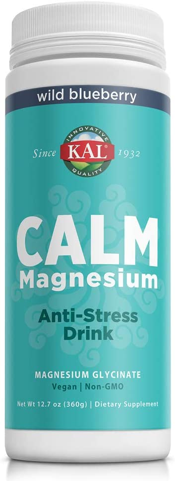 KAL Calm Magnesium Anti-Stress Drink | 325mg Mag Glycinate | Calm & Relaxation Support for Body & Mind | 12.7oz, 80 Serv