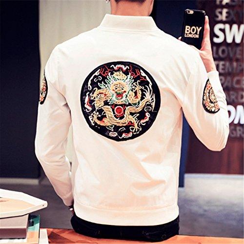 marea gruesa serie Hombres Hombre chaqueta más terciopelo Chaqueta blanca Chaqueta y L adelgazamiento en la 龙 un de de xvOfx