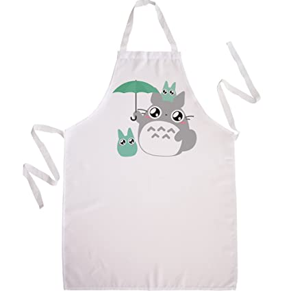 Nodshop-Delantal de cocina, diseño de Totoro Paraguas voison Chibi y Kawaii by Fluffy
