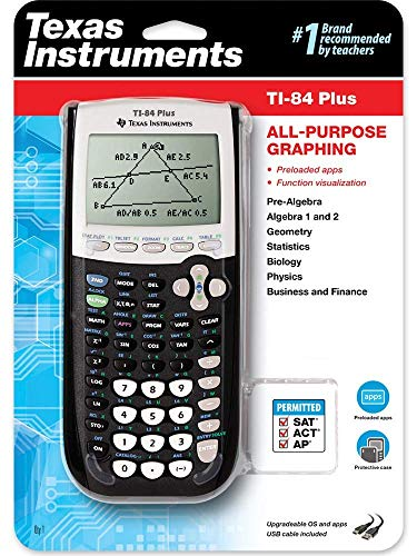 Texas Instruments TI-84 Plus Graphing Calculator, Black (Ti Calculators 84)