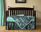 Carstens Muddy Girl Serenity Camo 3 Piece Crib Sheet Set, Turquoise