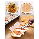 Oil-Absorbing Paper for Fried Food and Tempura,Extra Thick,50 Sheet Pack,19.7cm x 21.8cm