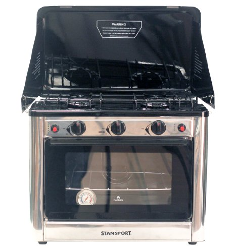 Stansport Propane Outdoor Camp Oven and 2 Burner Range - Propane Camping Oven
