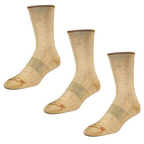Drymax Socks Lite Hiking Crew - Tan W5-7, M3.5-5.5 - 3 Pack