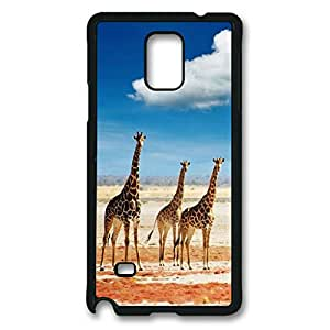 Armener Black Sides Hard Shell Skin Protector Cover Case for Samsung Galaxy Note 4 With Giraffe-3
