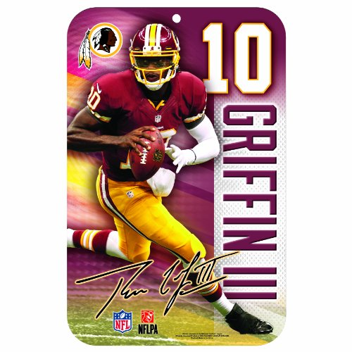 NFL Washington Redskins Robert Griffin III 11x17-Inch Sign (Redskins Locker Nfl Room Washington)