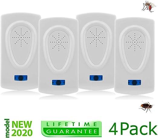 4 Insectos,Hormigas Repelente Ultras/ónico de Plagas 4 Piezas Repelente Ultras/ónico de Plagas 2020 Control de Plagas para Moscas,Ratones,Roedores