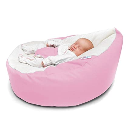 Incredible Gaga Pre Filled Pastel Pink Baby Bean Bag With Harness Pabps2019 Chair Design Images Pabps2019Com