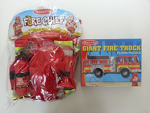 Bitty Kitty (Melissa and Doug Fireman Play Bundle - Fire Chief Role Play Costume Set, Giant Fire Truck Floor Puzzle, Bonus Paw Patrol Itty-Bitty Kitty Rescue Adventure Book)