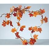 bläter guirnalda, 1,80m, otoño hojas guirnalda, arce guirnalda, decoración, otoño, guirnalda