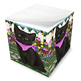 Spring Floral Black Cat Note Cube NOC52188