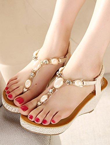 Flops MatchLife Sandales Style5 Femmes Flip Cassé blanc FwqrOwtx