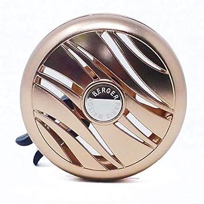 MAISON BERGER - Refillable Car Vent Clip Diffuser Set - 3.1 x 2 x 0.8 inches - Made in France (Coconut Monoi): Automotive