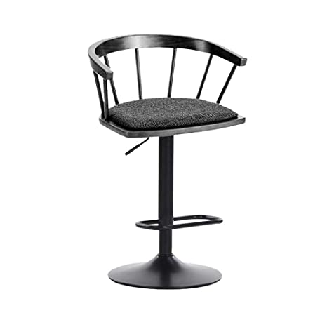 Astonishing Amazon Com Solid Wood Bar Stool With Cotton Cushion And Caraccident5 Cool Chair Designs And Ideas Caraccident5Info