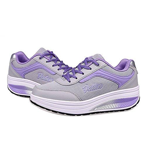 Sport Rx8391 Lace Running XMeden Up Women's Shoes Purple Mesh xwIEZvq0