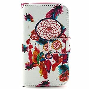 QYF Multi-colored Feathers Pattern PU Leather Full Body Case with Stand for Samsung S3 Mini I8190