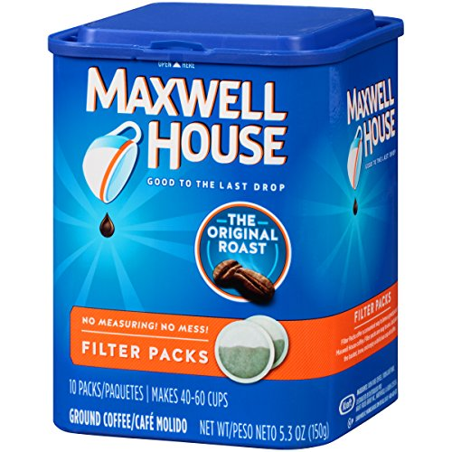 Maxwell House Original Blend Ground Coffee, Medium Roast, 10 Filter Packs (Pack of 4) (Coffee Maxwell Roasted)