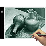 Tracing Light Box - A4 Ultra-Thin Portable LED Light Box Tracer USB Power Cable Dimmable Brightness LED Artcraft Tracing Light Pad for Artists Drawing Sketching Animation Stencilling X-rayViewing