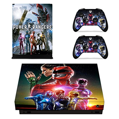 Vanknight Xbox One X Console Controllers Skin Set Vinyl Skin Decals Sticker Cover Classic (Power Stick Ranger)