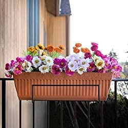 Sun Joe Flower Box Holder, Black