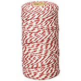 Wrapables 12-Ply Cotton Baker's Twine, 110-Yard, Red