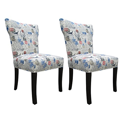 Sole Designs Amore Series Bella Collection Upholstered Modern Dining Chair (Set of 2), (Bella Dining Chair)