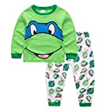 5t ninja turtle pajamas - LLS Teenage Mutant Ninja Turtles Pants Pajama Set 100% Cotton Size 24Mos-7Yrs (Green, 5t)