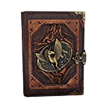 Flying Unicorn Real Leather Journal Small Writing Notebook Handmade Natural Leather Daily Notepad For Men & Women Unlined Paper, Best Gift for Art Sketchbook, Travel Diary, Write in
