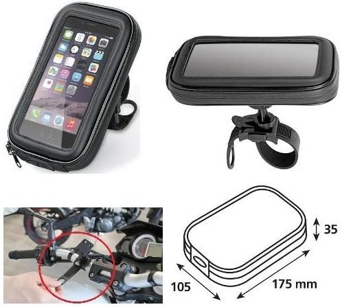 Porta M/óvil Smartphone tel/éfono Funda de Manillar 90423/lampa Bicicleta Moto para Harley-Davidson 883/C Sportster Low XL 2008/ /2017