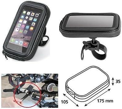 Mochila de Manillar Porta navegador GPS Porta teléfono móvil Smartphone teléfono Funda de Manillar 90423 lámpara Universal 105 x 175 x 35 mm: Amazon.es: Coche y moto