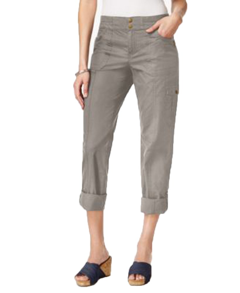 Style & Co. Petite Convertible Cargo Pants (Summer Straw, 4 Petite)