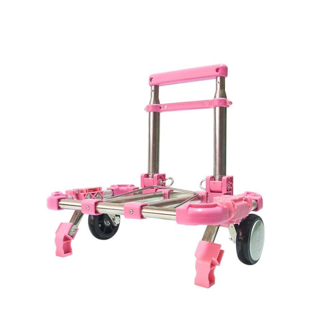 Folding Hand Truck Carrello A Mano Pieghevole Carrello Piccolo Carrello Portatile Carrello Piccolo Carrello,rosa