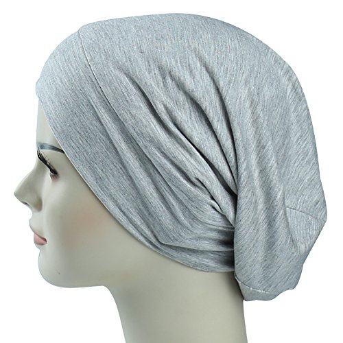 Cotton Lined Cap (Cute Slouchy Cap For Long Hair Girls Fashion Satin Lined Sleep Beanie Public Headwear)