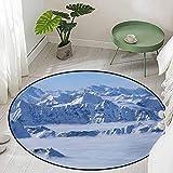 Round Bathroom Carpet Fantasy Dream Land Over The