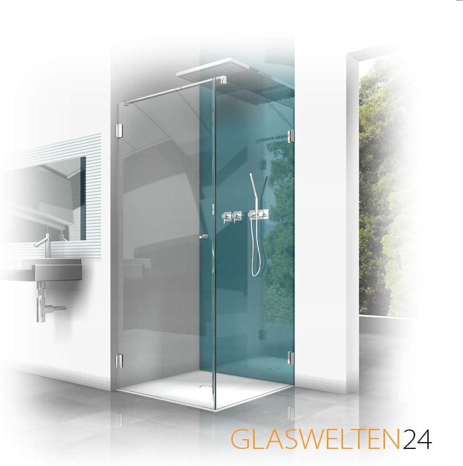 Ducha de cristal a medida, tipo FA-201, cristal de 8 mm, herrajes de marca, cabina de ducha en medida especial, fabricación a medida: Amazon.es: Bricolaje y herramientas