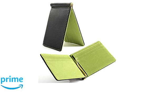 Saffiano Leather Suede Men/'s Wallet Money Clip Credit Card Holder *Free Shipping