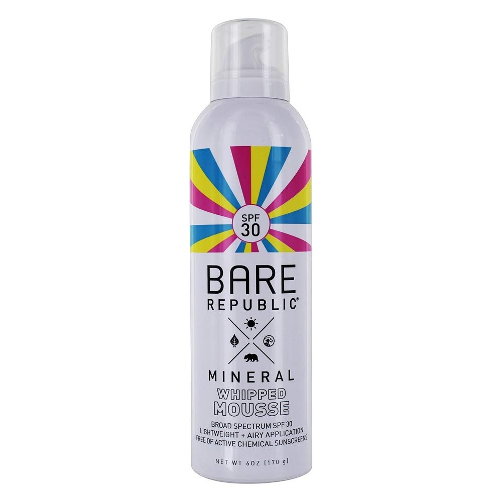 Bare Republic Mineral spf30 body whipped mousse, Coconut Vanilla, 6 Fluid Ounce