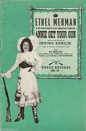 "Ethel Merman ""ANNIE GET YOUR GUN"" Irving Berlin 1946 Decca Records Brochure"
