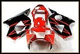 Protek ABS Plastic Injection Mold Full Fairings Set Bodywork With Heat Shield Windscreen for 2002 2003 Honda CBR954RR CBR 954RR Red Black