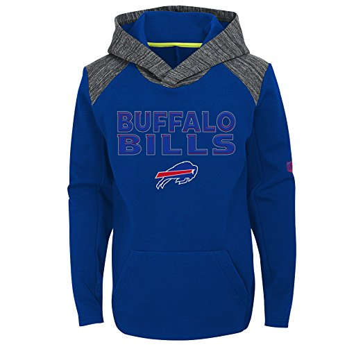 Outerstuff NFL Buffalo Bills Youth Boys Engage Pullover Performance Hoodie, Royal, Youth X-Large(18)