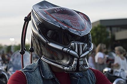 Kustomzairbrushing Gunmetal Predator Helmet XX Large