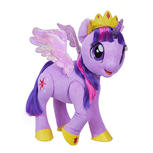 Magical Pony (My Little Pony Toy Talking & Singing Twilight Sparkle, Soft Interactive Purple Unicorn with Wings, Kids Ages 3 & Up)
