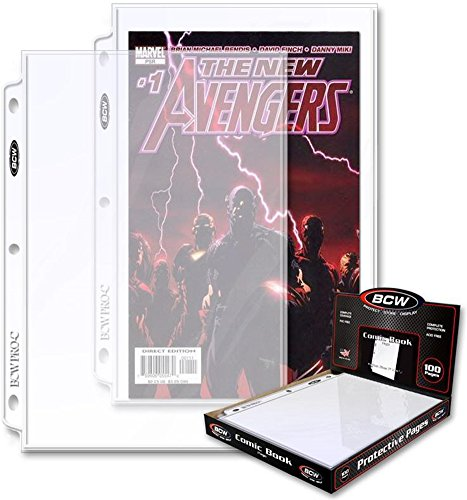 (25) BCW Current Size or Silver Age Polypropylene Comic Sleeves - Fits in 3-Ring Binders - BCW-PROC-100
