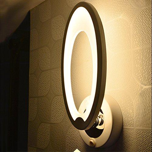 Sotoboo Simples Moderne Acrylique Rond LED Chambre Coucher De Chevet Lampe Murale Appliques Murales Parfait