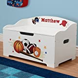 Personalized Dibsies Modern Expressions Toy Box - White (Sports)