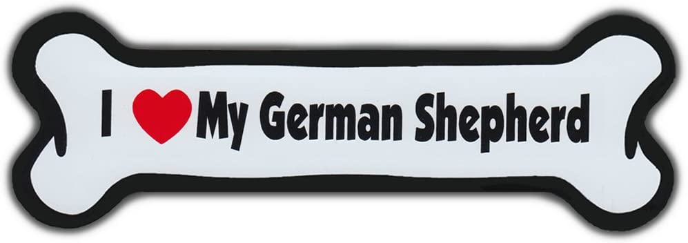 Dog Bone Magnet: I LOVE MY GERMAN SHEPHERD | Dogs Doggy Puppy | Car Automobile